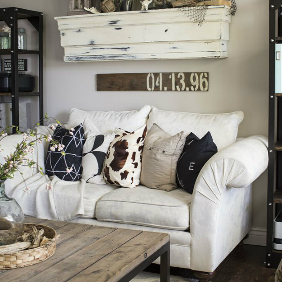 Industrial Living Room with Wall Container