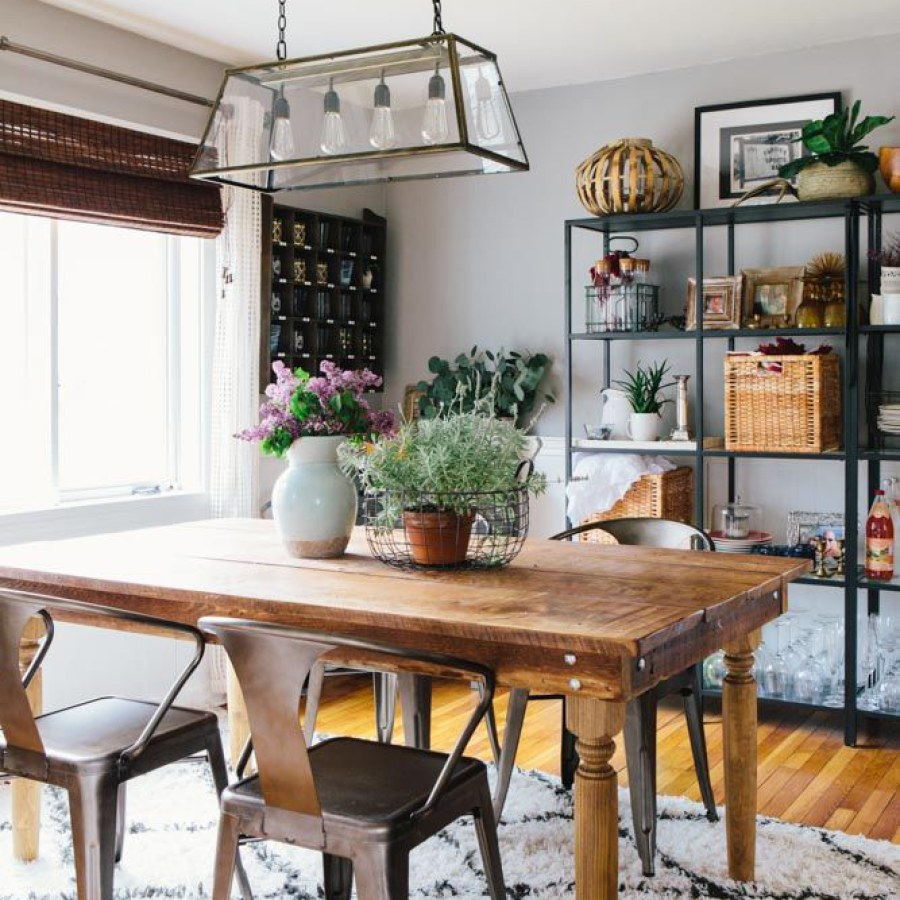 Industrial Farmhouse Dining Room
