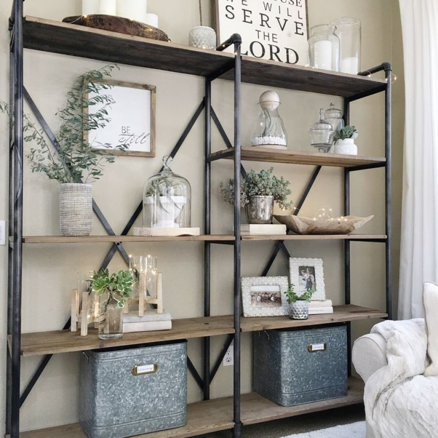 Industrial Farmhouse Steel Shelves
