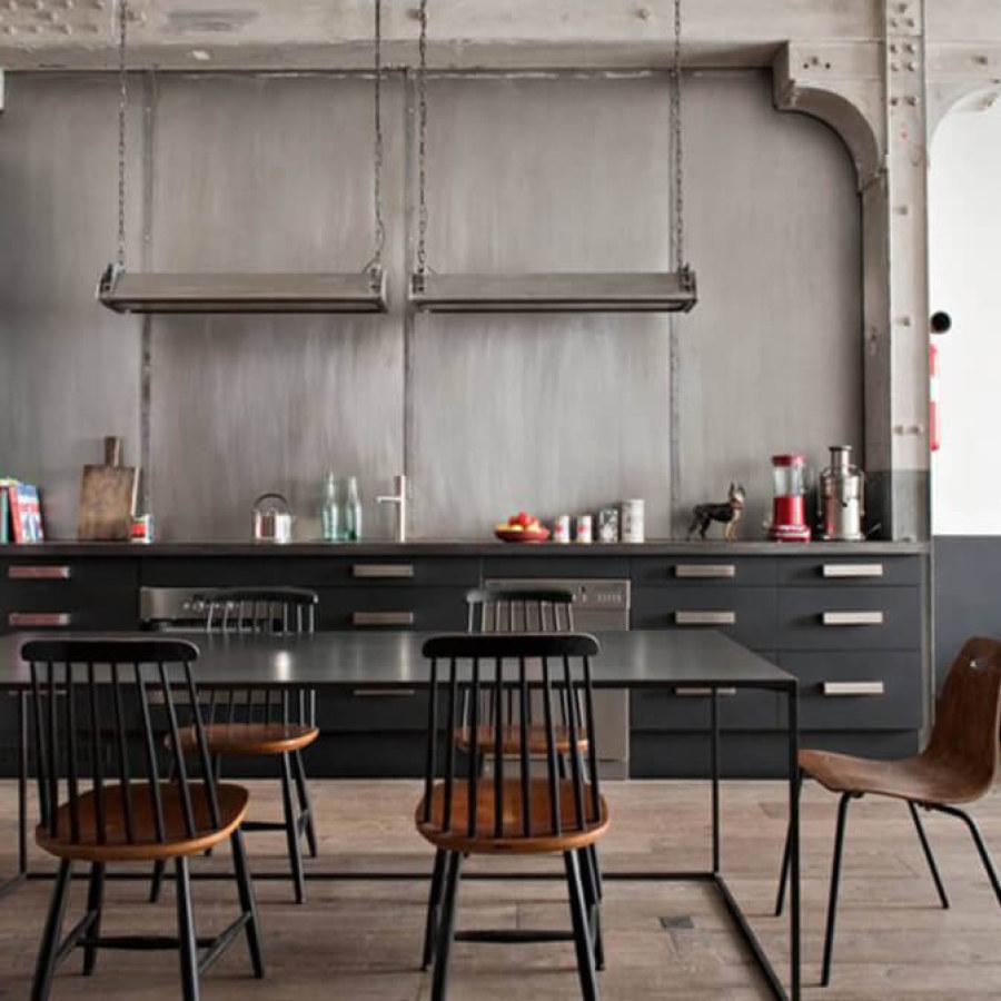 Simple Industrial Kitchen