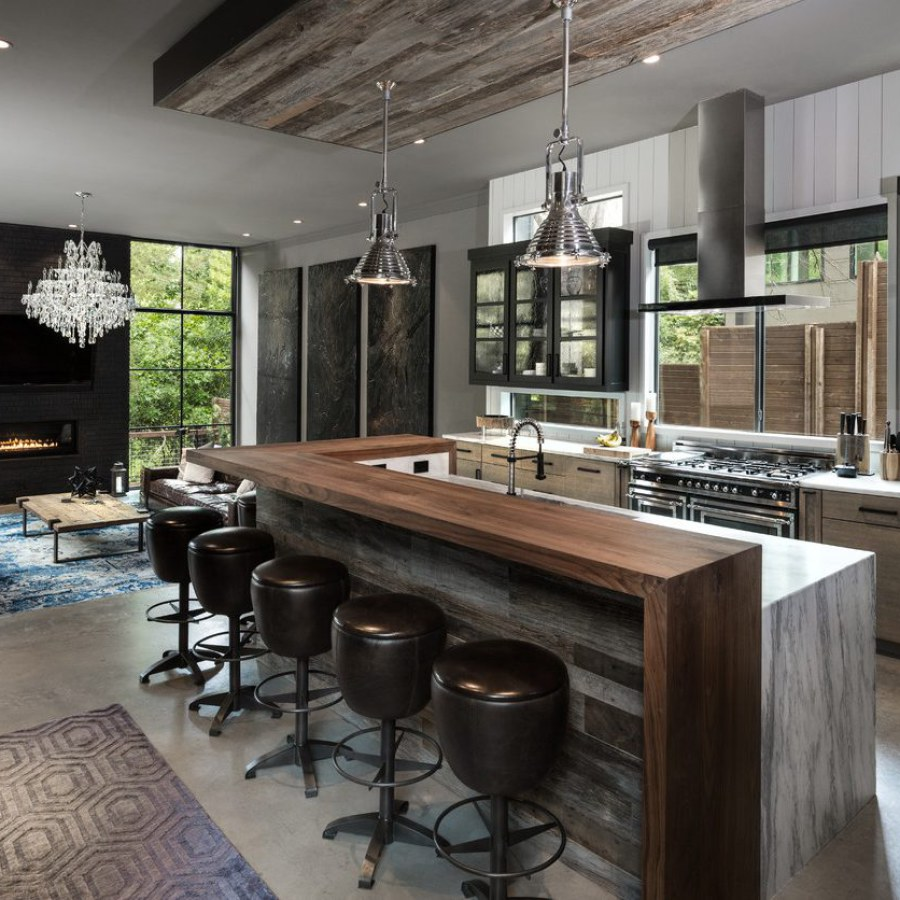 Industrial Kitchen with Counter