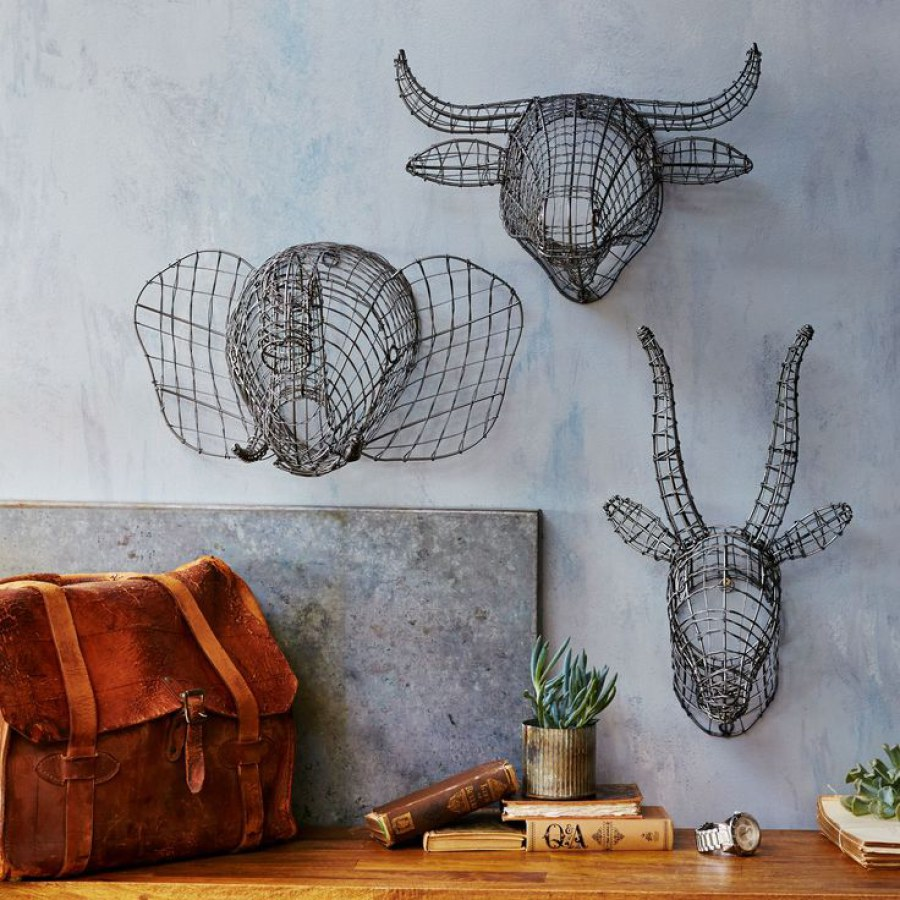 Urban Industrial Animal Wire Wall Decor
