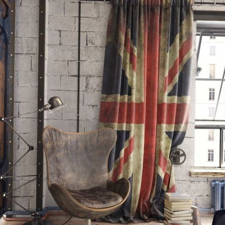 Urban Industrial with Flag Curtain