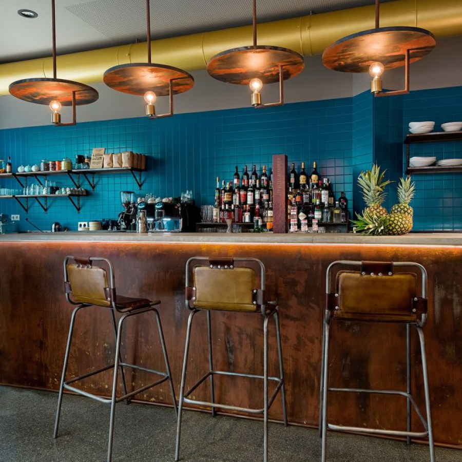Industrial Bar with Vintage Chairs